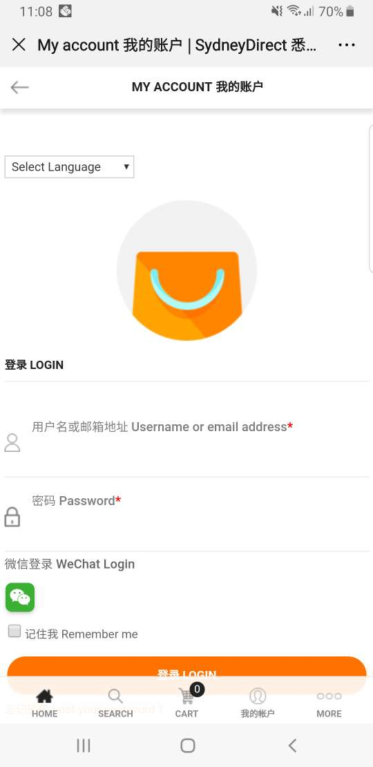 SydneyDirect wechat login